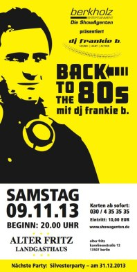 2013-09.11. Back to the 80´s Vol. 4 - Alter Fritz