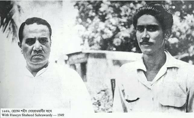 Bangabondhu Sheikh Mujibur Rahman(R) with Huseyn Shaheed Suhrawardy(L) (1949)