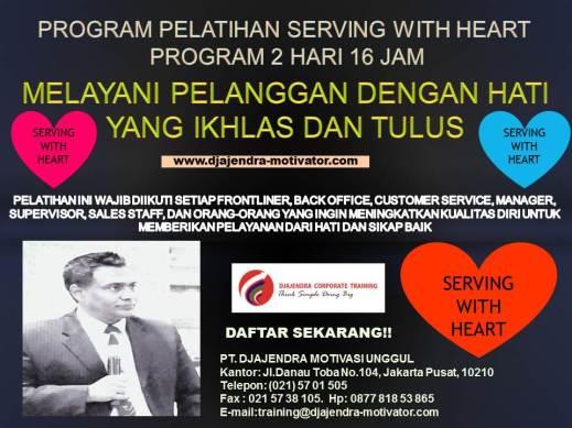 PELATIHAN SERVING WITH HEART 2 HARI