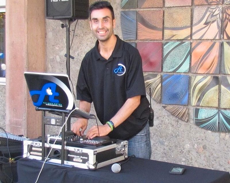 DJ Alex Reyes performing at a Disability Awareness Event