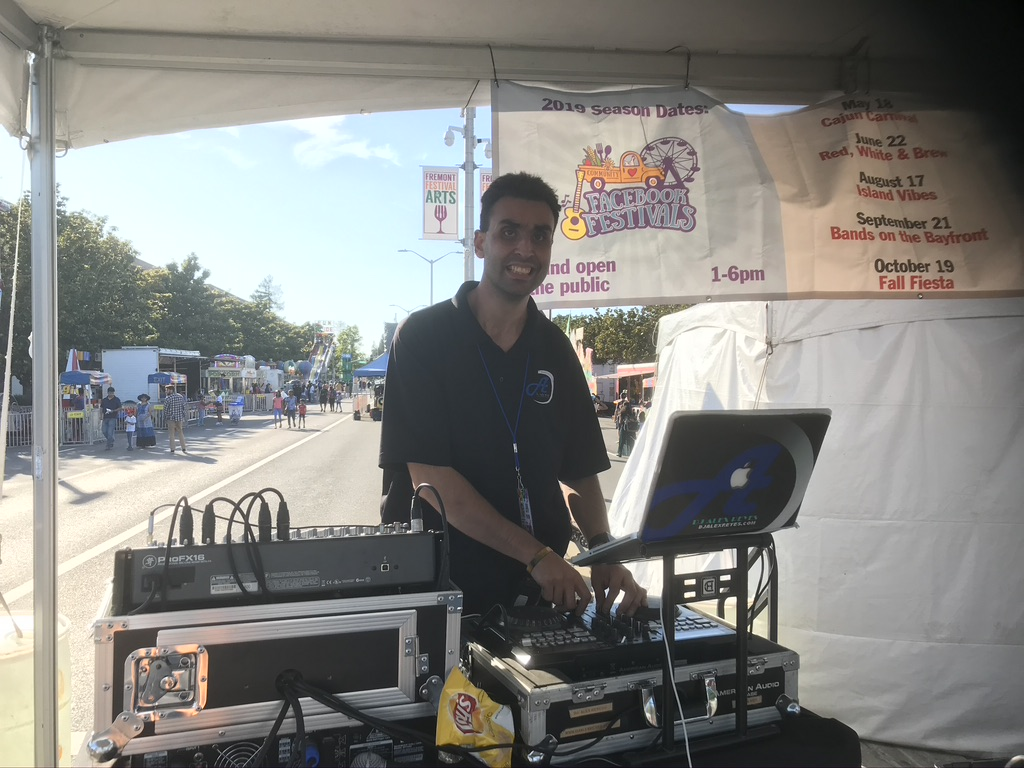 DJ Alex Reyes performing at a Festival