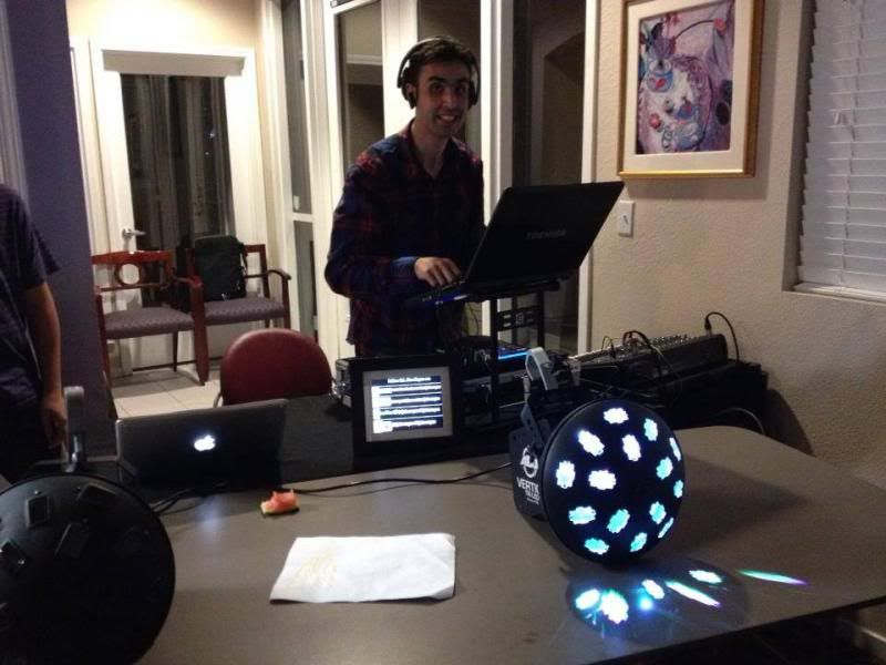 DJ Alex Reyes performing at a Birthday Party