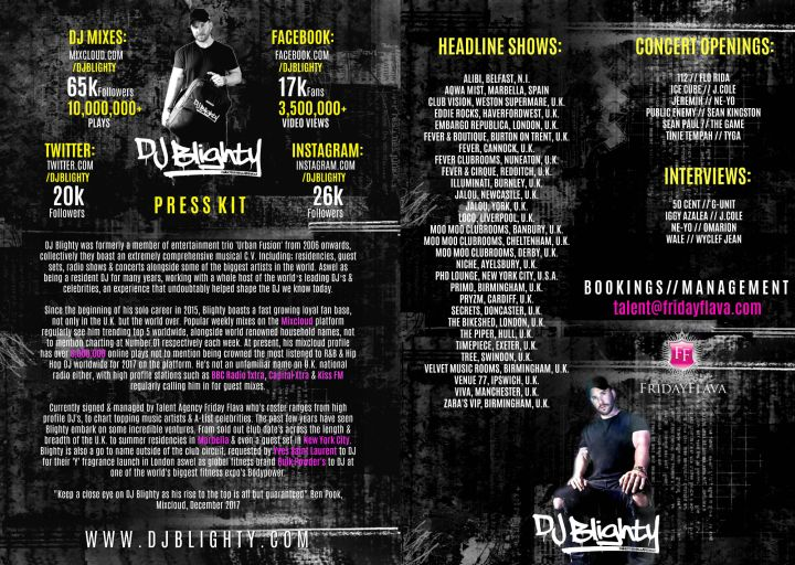 DJ Blighty Press Kit