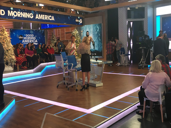 Robin Roberts and Lara Spencer getting ready