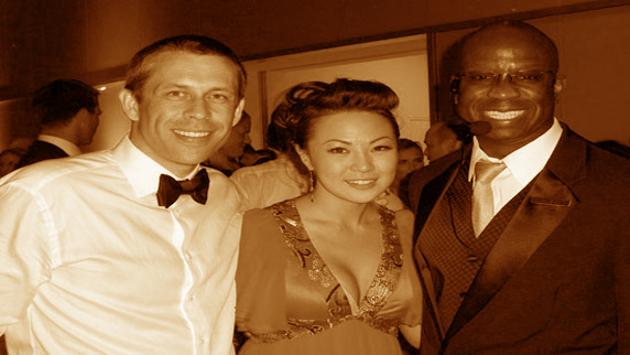 David Shoemaker, Jennifer Hsiung with DJ Carl©