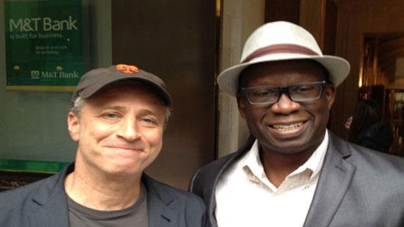 Jon Stewart and DJ Carl©