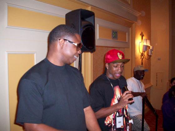 Lil JJ and Doug E. Fresh at the Tom Joyner Family Reunion