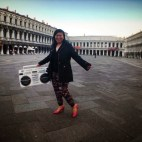 The DJ in Venice Italy 2014