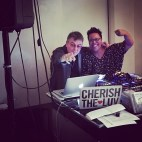The Smith's Andy Rourke and DJ CherishTheLuv, DJ brother and sister, running the show