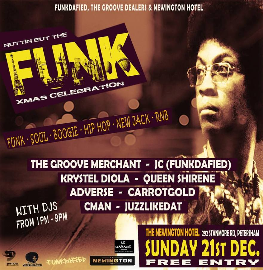 SUN 21ST DEC: NUTTIN' BUT THE FUNK – THE GROOVE DEALERS & FUNKDAFIED