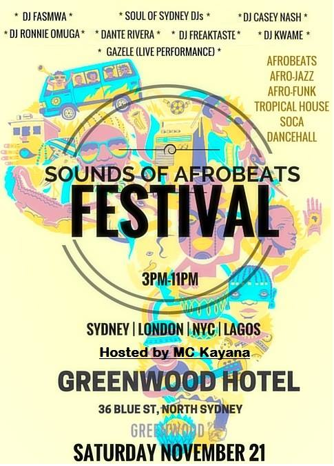 Festival: Sounds of AfroBeats Sydney  // 21st Nov // Soul of Sydney DJs