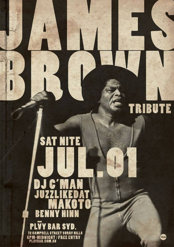SATURDAY GIGS: THE CLOCK HOTEL + ✱JAMES BROWN TRIBUTE NIGHT✱ (PLAY BAR) [01/07/17]