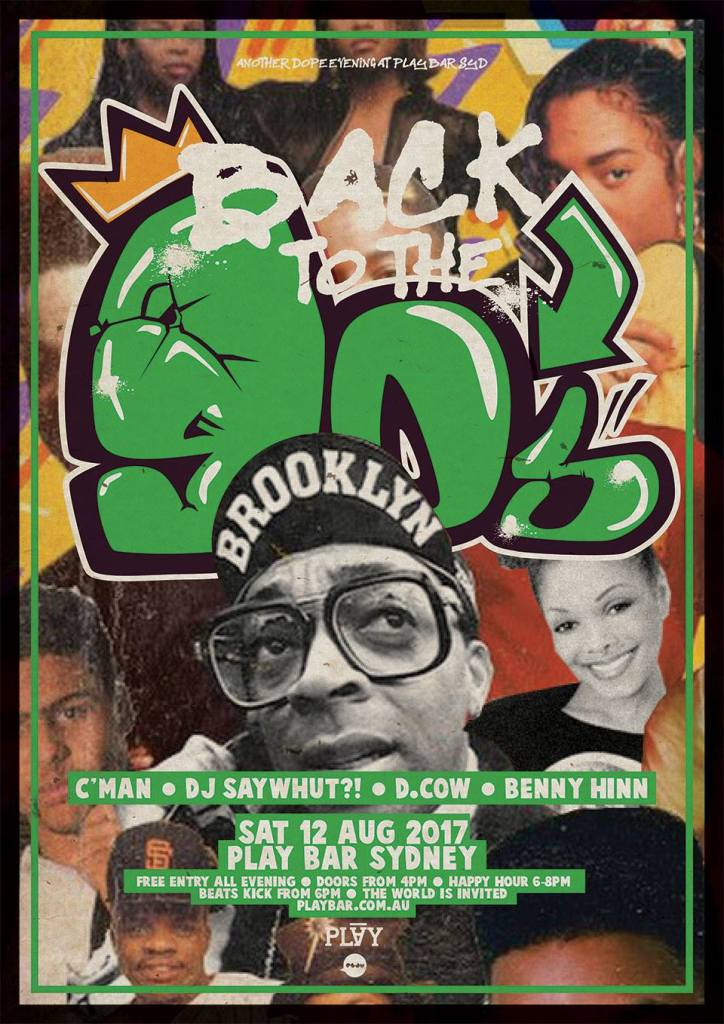 PLAY BAR (FRI.12.AUG) :: Back to the 90s x New Jack Swing x 90's Hip Hop // Feat. CMAN, SAYWHUT, D-COW