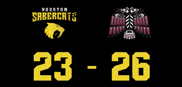 Houston SaberCats Lose in Closing Minutes to Vancouver Ravens