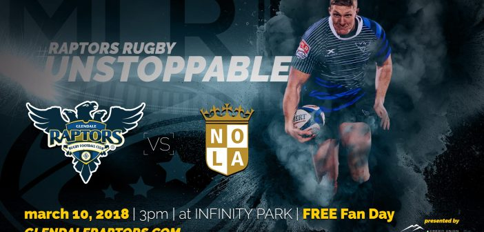 Glendale Raptors Host New Orleans Gold Rugby