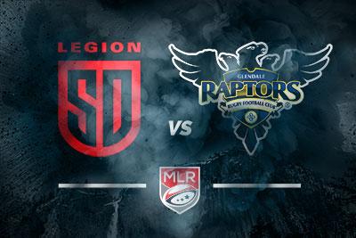 Glendale Raptors vs. San Diego Legion MLR Preview