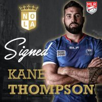 NOLA Gold Rugby Signs Samoa Lock Kane Thompson