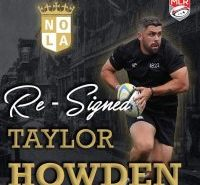 New Orleans Gold Re-Signs Taylor Howden