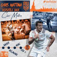 Rugby United New York Signs Chris Mattina