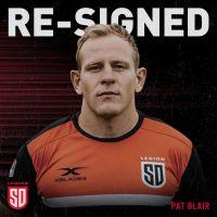 San Diego Legion Re-Signs Pat Blair