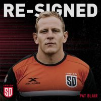 San Diego Legion Re-Signs Pat Blair