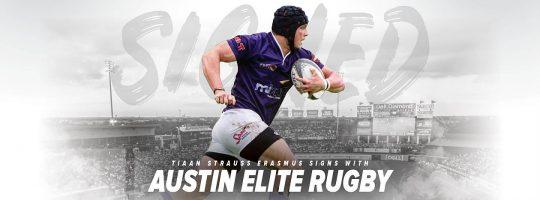 Austin Elite Rugby Signs Tiaan Strauss Erasmus
