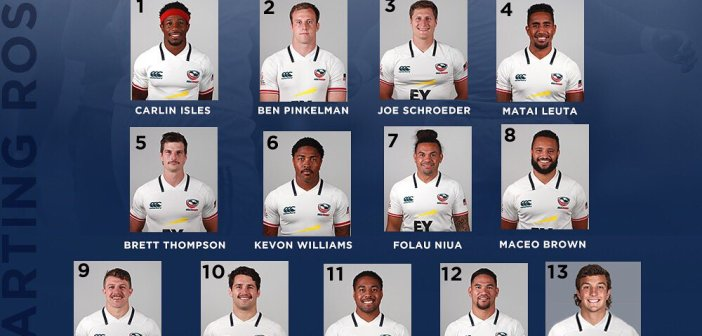 USA Men's Eagles Sevens Hong Kong Sevens Squad