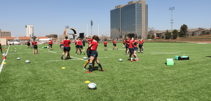 USA Women's Eagles Squad Against Barbarians