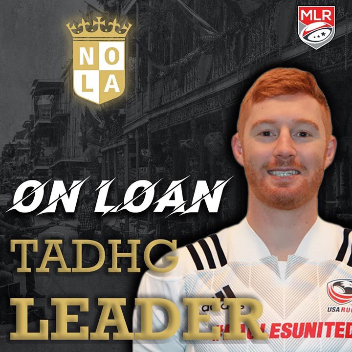 New Orleans Gold Adds Tadhg Leader - djcoilrugby