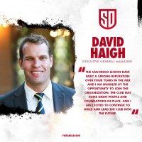 San Diego Legion Names David Haigh Executive General Manager