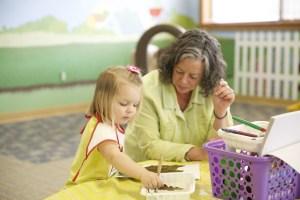 Lunch and Learn kid, teacher