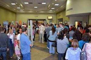 crowded lobby
