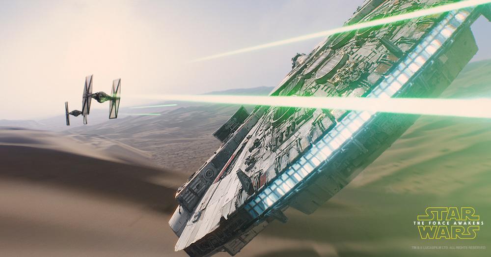 star wars force awakens millennium falcon