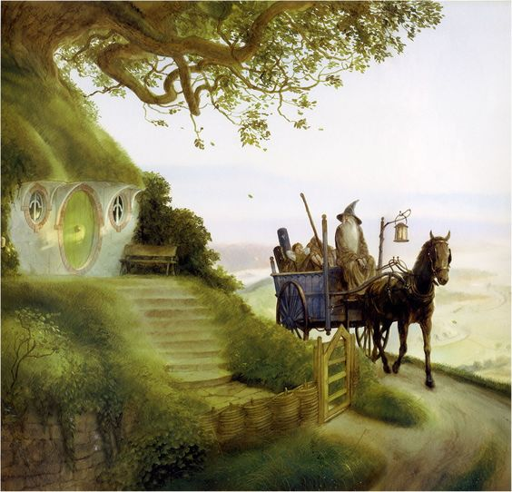 gandalf cart in the shire