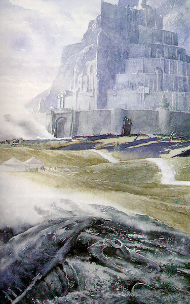 lord of the rings alan lee minas tirith