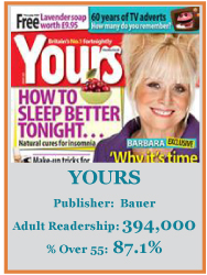 Yours Magazine Targets the Grey Consumer