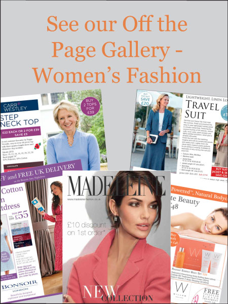 Off the Page Advertising for Women's Fashion