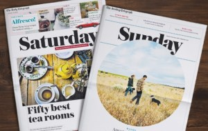 Telegraph Media have redesigned their Saturday Weekend Supplement and Sunday Living Supplement