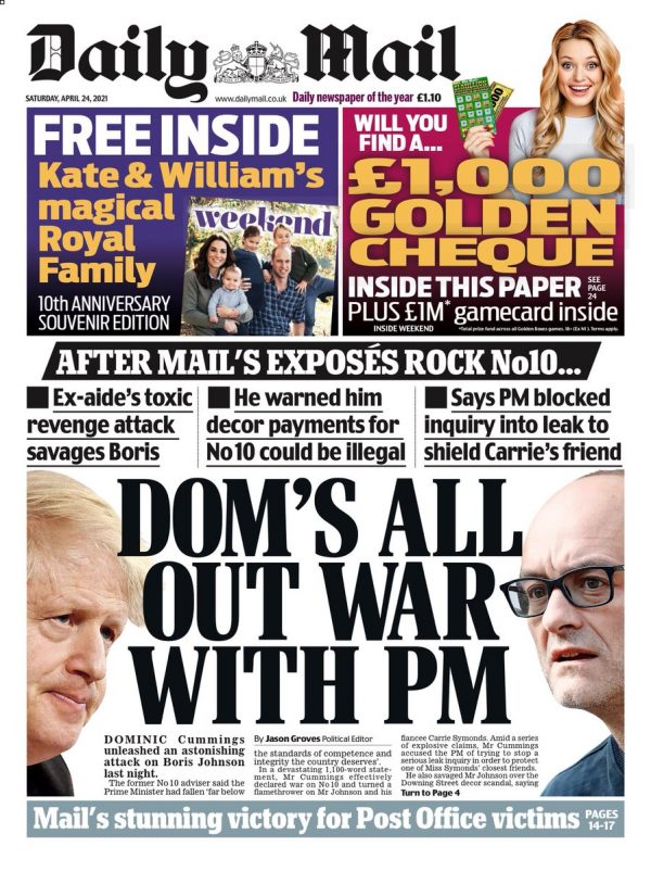 Daily Mail Cover