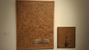 """Hwang Buh-Ching 1991. """"Modern Poetry"""" compressed newspaper, found wood, metal. 152 x 120 cm"""