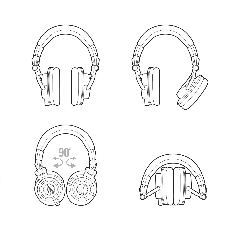 Audio Technica Ath M50x Studio Monitor Headphones