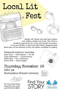 Local Lit Fest Flyer, with DJ Hill