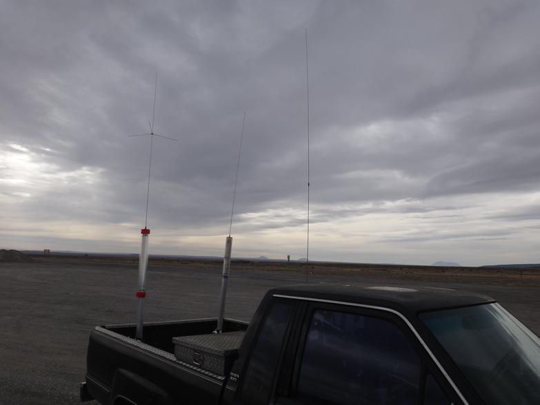 The three rear antennas