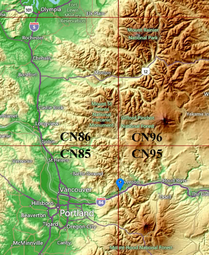 Topography at the CN95 stop