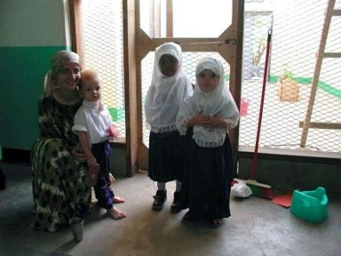 Terribly fuzzy. From Somaliland, going to school