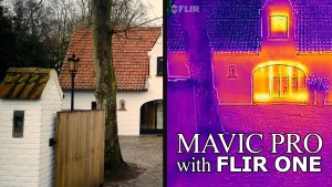 FLIR (Thermal) camera on top of DJi Mavic Pro
