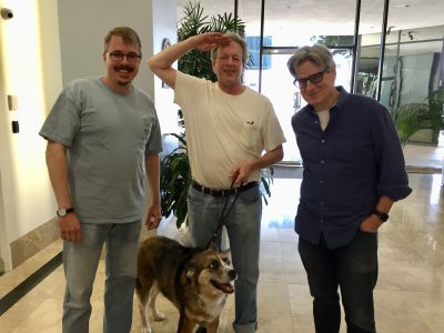 Vince Gilligan, Peter Gould, Jed The Fish Gould, and Alice