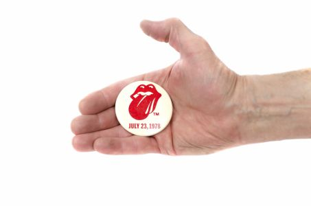Jed the Fish's Rolling Stones Badge, 1978