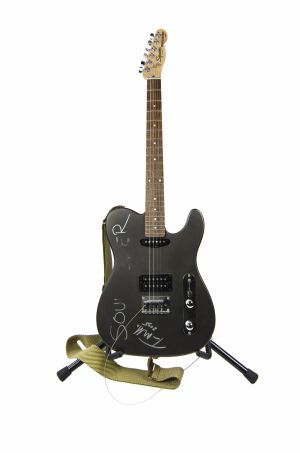 Jed The Fish's autographed Tom Morello Fender Telecaster Squire