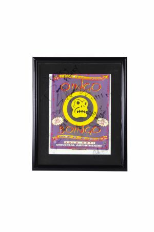 Jed's Oingo Boingo 'Farewell' plaque, signed by the band